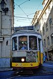 De historische tram van Lissabon Royalty-vrije Stock Fotografie