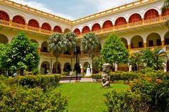 De historische Universitaire Bouw, Cartagena, Colombia Royalty-vrije Stock Foto