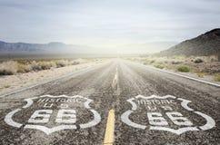 De historische V.S. Route 66 royalty-vrije stock foto