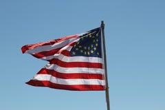 De historische Vlag van Verenigde Staten van recente 1800's Stock Foto