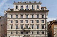 De historische Voorzijde van de Bouw in Rome Stock Afbeeldingen