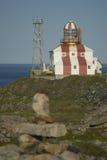 De historische Vuurtoren van Kaapbonavista Stock Afbeeldingen