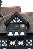 De historische Zwart-witte Bouw in Chester Stock Foto's