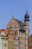 De historiska husen i den gamla staden Royaltyfri Bild
