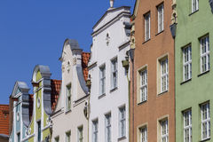 De historiska husen i den gamla staden Fotografering för Bildbyråer