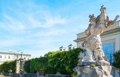 De historiska ställena av Salzburg Fotografering för Bildbyråer