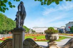 De historiska ställena av Salzburg Arkivfoto