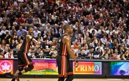 De Hitte van Miami versus de Roofvogels van Toronto Royalty-vrije Stock Fotografie