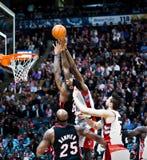 De Hitte van Miami versus de Roofvogels van Toronto Stock Afbeelding