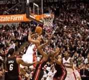 De Hitte van Miami versus de Roofvogels van Toronto Stock Afbeeldingen