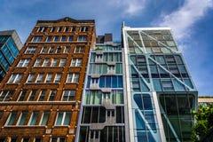 De HL23 Flat die op 23ste Straat in Chelsea, Manhatt voortbouwen Stock Afbeeldingen