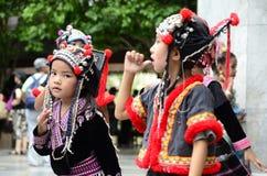 De Hmong-kinderen in Thailand Royalty-vrije Stock Afbeelding