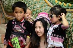De Hmong-kinderen in Thailand Stock Foto's