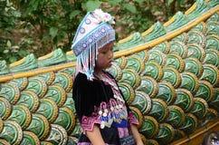 De Hmong-kinderen in Thailand Stock Afbeelding