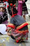 De Hmong-kinderen in Thailand Royalty-vrije Stock Foto