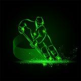 De hockeyspeler noteert een doel royalty-vrije illustratie