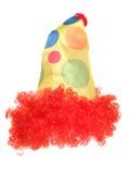 De hoed en de pruik van het clownkostuum Stock Afbeelding