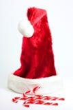 De hoed en het suikergoed van de kerstman Royalty-vrije Stock Foto