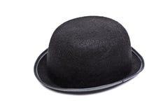 De hoed van de bowlingspeler die op wit wordt geïsoleerdg Stock Foto's