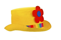 De hoed van de clown die op wit wordt geïsoleerda royalty-vrije stock foto's