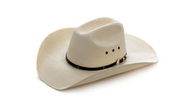 De hoed van de cowboy op wit Stock Afbeelding