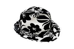 De hoed van de dame die op wit wordt geïsoleerd Royalty-vrije Stock Afbeeldingen