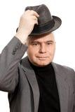 De hoed van de de groethand van de mens Royalty-vrije Stock Foto's