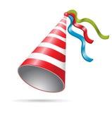 De hoed van de de vooravondpartij van het nieuwe jaar van de verjaardag Stock Afbeeldingen