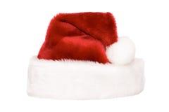 De hoed van de kerstman die op wit wordt geïsoleerdk Royalty-vrije Stock Afbeelding