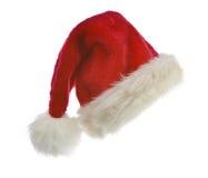 De hoed van de kerstman die op wit wordt geïsoleerdr Stock Foto