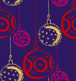 De hoed van de Kerstman met boomballen Seizoengebonden de winterdecoratie Vector Royalty-vrije Stock Fotografie
