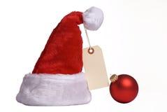 De Hoed van de kerstman op Verkoop Stock Foto's