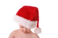 De hoed van de kerstman rechtstreeks neer royalty-vrije stock fotografie