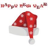 De hoed van de kerstman `s royalty-vrije illustratie