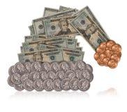 De Hoed van de Kerstman van het geld Royalty-vrije Stock Afbeeldingen