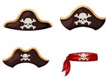 De hoed van de piraat Royalty-vrije Stock Foto's