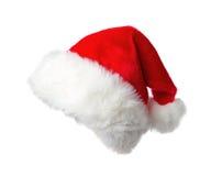De hoed van de rode Kerstman Royalty-vrije Stock Foto's