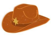De hoed van de sheriff Stock Afbeeldingen