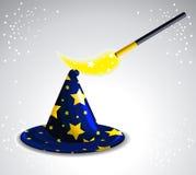 De hoed van de tovenaar Royalty-vrije Stock Foto's