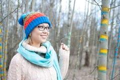 De hoed van de vrouwenwinter stock fotografie