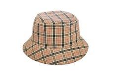 De hoed van de winter met vierkanten stock foto