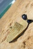 De hoed van de zeekust en van het stro Stock Foto's