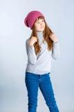 De hoed van het kindmeisje Stock Foto's