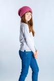 De hoed van het kindmeisje Stock Afbeeldingen
