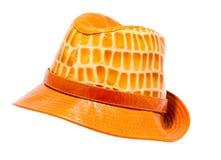 De hoed van het leer Stock Afbeelding