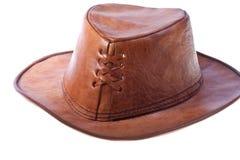 De hoed van het leer Stock Afbeeldingen
