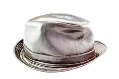 De hoed van het leer Stock Foto