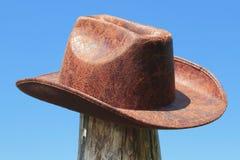 De hoed van het leer Royalty-vrije Stock Afbeeldingen
