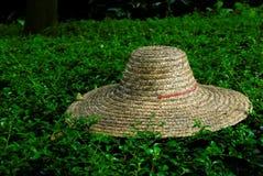 De hoed van het stro stock afbeelding