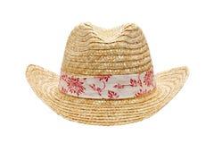 De hoed van het stro Stock Foto's